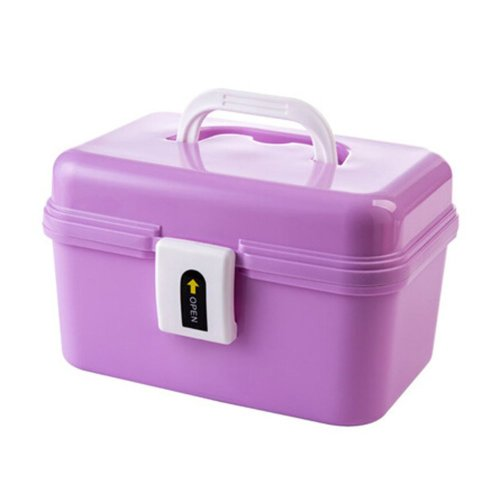 Cute Portable Storage Chests Durable Storage Container Medicine Chest,PURPLE
