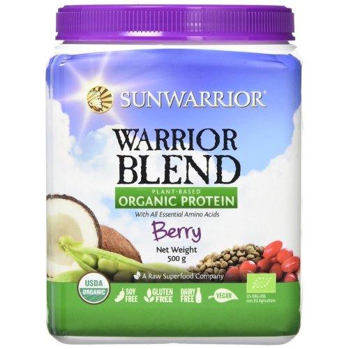 Sunwarrior Warrior Blend Organic Raw Vegan Protein Powder, Berry, 500g