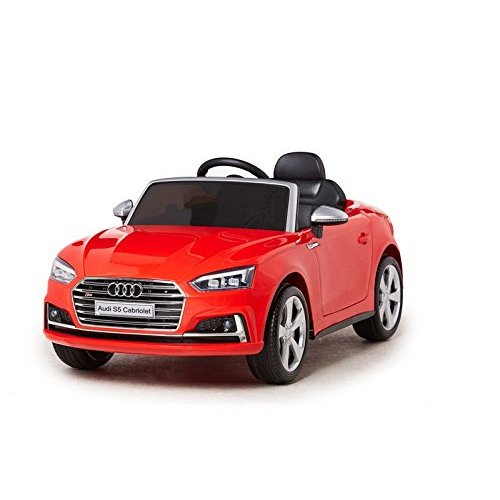 Licensed Audi S5 12V Ride on Car Red  Children's Electric Ride on Car Red + 2 Volts + Open Doors + Parent Remote Control + Seat Belts