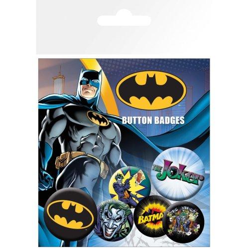 Batman Comic Logo and Joker Badge Pack