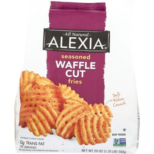 Alexia KHFM00012898 Waffle Fries with Seasoned Salt - 20 oz