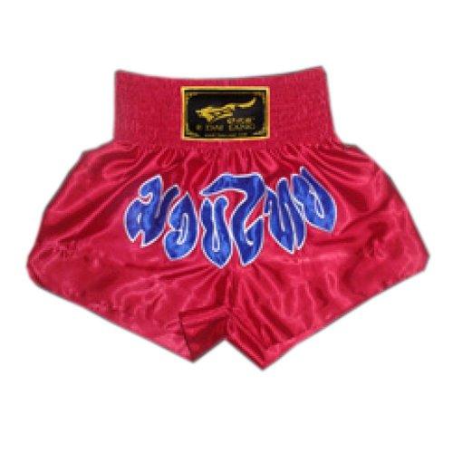 Red & Blue Muay Thai Boxing Trunks MMA Kick Boxing Shorts Fight Brief, XXXL