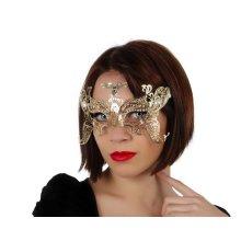 Mask Party Golden Lazer Cut -  party eye mask laser cut butterfly ornament masked ball goldcoloured