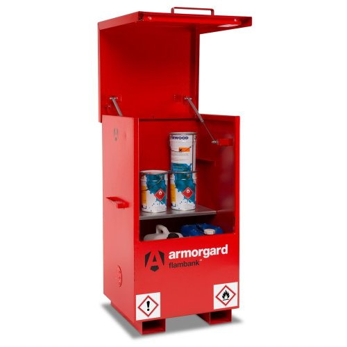 Armorgard FlamBank Flammable Liquids Safe Storage Site Chest Box - 765x675x1270mm