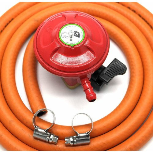 Other Igt Bbq/Patio Gas 27Mm Regulator & 2 Meter Hose Kit & 2 Clips 5 Year Warranty