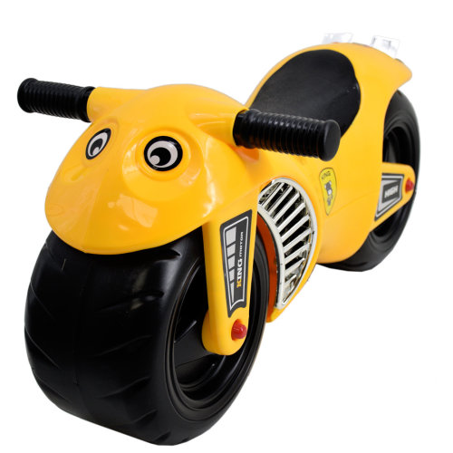 deAO Kids Sturdy Toddler Ride-On Balance Bike Motocycle Yellow