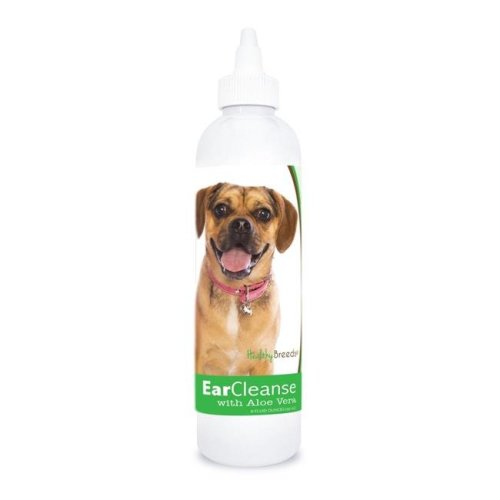 Healthy Breeds 840235197294 8 oz Puggle Ear Cleanse with Aloe Vera Cucumber Melon