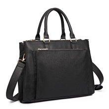 Miss Lulu Unisex Leather Laptop Handbag Shoulder Bag Briefcase