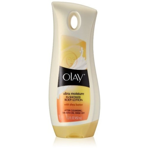 Olay Ultra Moisture In-Shower Body Lotion with Shea Butter, 15.2 oz / 450 ml
