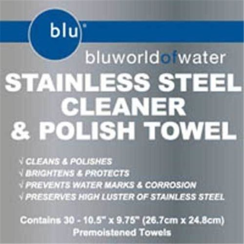 Bluworld DYM-91930 CASE Stainless Steel Cleaner Towel Case