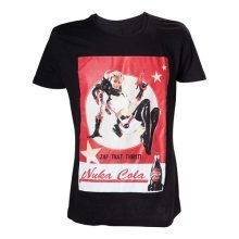 Fallout 4 Adult Male Nuka Cola 'Zap That Thirst!' T-Shirt, Extra Large, Black (Model No. TS201601FOT-XL)