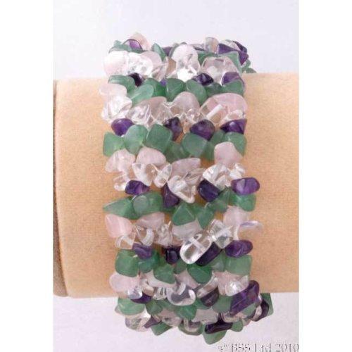 Multi-Gemstone Chip band bracelet