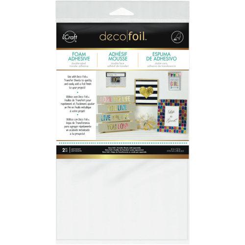 "Deco Foil Foam Adhesive 6""X12"" Sheet 2/Pkg-White"