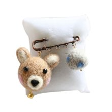 Cute Cartoon Animal Wool Felt Brooch Pin Clothing Accessories, Bear