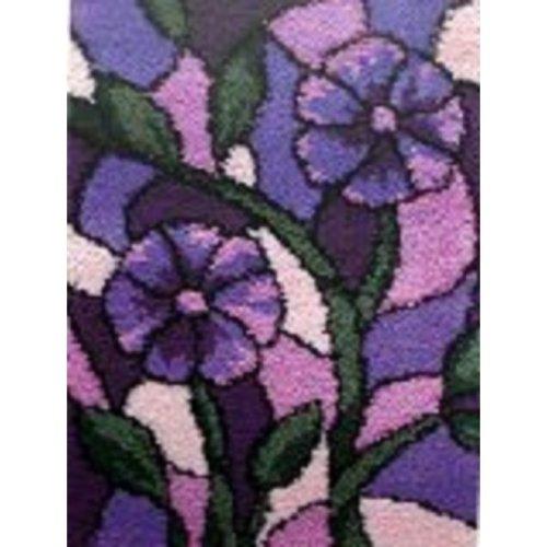 "Latch Hook Rug Kit""Purple Flowers"" 52 x 38cm"