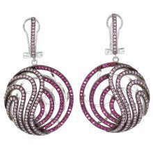 Elegant 925 Sterling Silver Micro Pave Earrings - FNCDL03