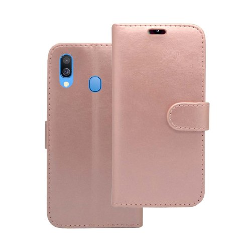 Samsung Galaxy A40 2019 Wallet Flip Stand Card Slot Case In Rose Gold