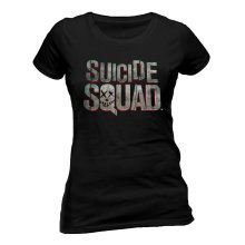XL Adults Suicide Squad T-shirt -  suicide squad logo tshirt fitted black x new large brand ladies juniors