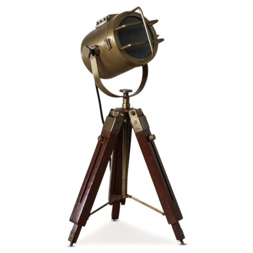 Redwood & Brass Tripod Lamp