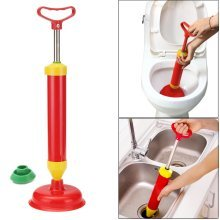 Red Multi Drain Buster Plunger Powerful Toilet Sink