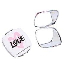 One Portable Princess Mirror Vanity Mirror Little Makeup Mirror 6.5x6.5x1CM (Love)
