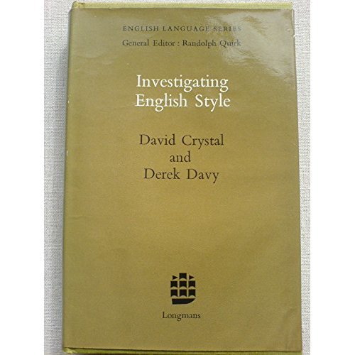 Investigating English Style (English Language Series)
