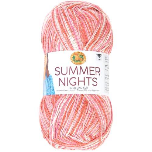 Lion Brand Yarn Summer Nights 3.5oz/100g-Tropical Punch