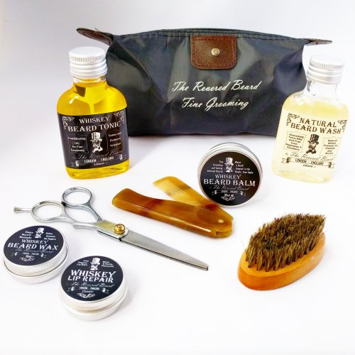 Whiskey  scented Beard Care Gift Set by The Revered Beard