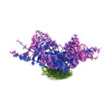 Set of 3 Emulational Plants Aquarium Decor Fish Tank Decoration,Dark Purple