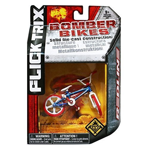 Flick Trix Die-cast Bomber Bikes - Redline (Blue, White, Red)