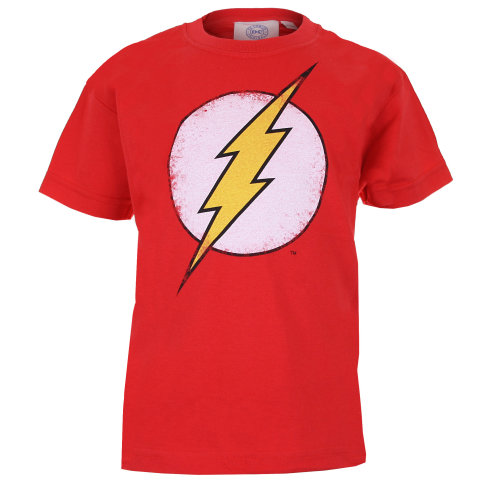 DC Comics Flash Logo Boys T-shirt Red