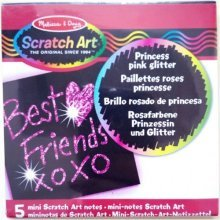 Crafts - Mini Scratch Art Princess Pink Glitter Pack -