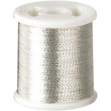 Clover Kantan Couture Bead Embroidery Tool Thread 66yd-Silver