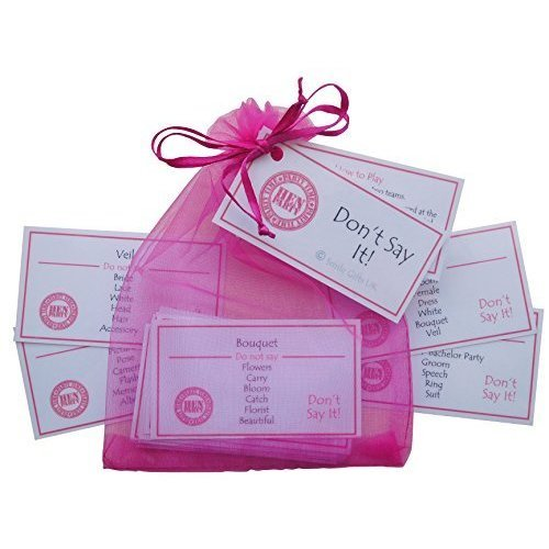 Don't Say It Hen Party Game - Taboo style game. Excellent Hen Night idea, Hen Party Games, Hen party Ideas, Hen Night Games, Hen Games