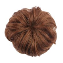 Laides Hair Bun Donut Extension Chignon Hair Piece Wig, Flaxen