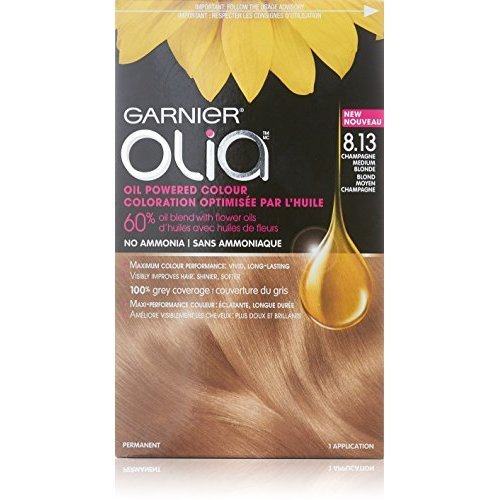 Garnier Olia Oil Powered Permanent Haircolor 8 13 Champagne Blonde Packaging May Vary