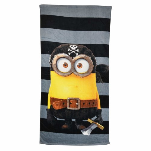 Minions Beach Towel: Minion Pirate, 150 x 75 cm