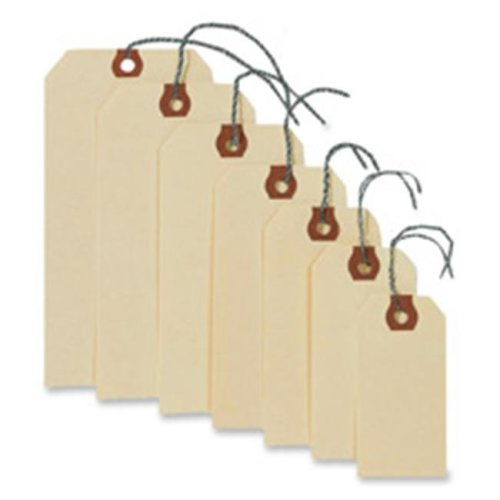 Consumer Products  Shipping Tags W-Wire- No 2- 3-.25in.x1-.63in.- Manila