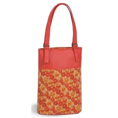 Picnic Plus PSM-225FC Luxe Double Wine Bag - Floral Cork