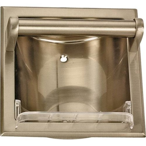 Mintcraft 0770024 Soap Holder with Grab Bar, Brushed Nickel