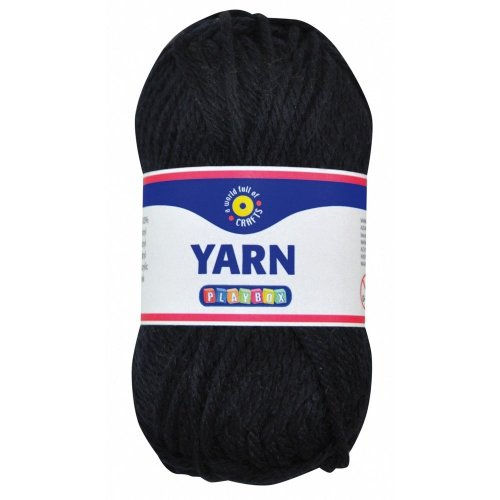 Pbx2470992 - Playbox - Acrylic Yarn (black) - 50g