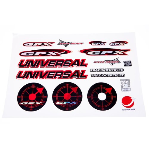 UNIVERSAL GPX Kids BICYCLE Bike STICKER SET (large) in RED AND BLACK new