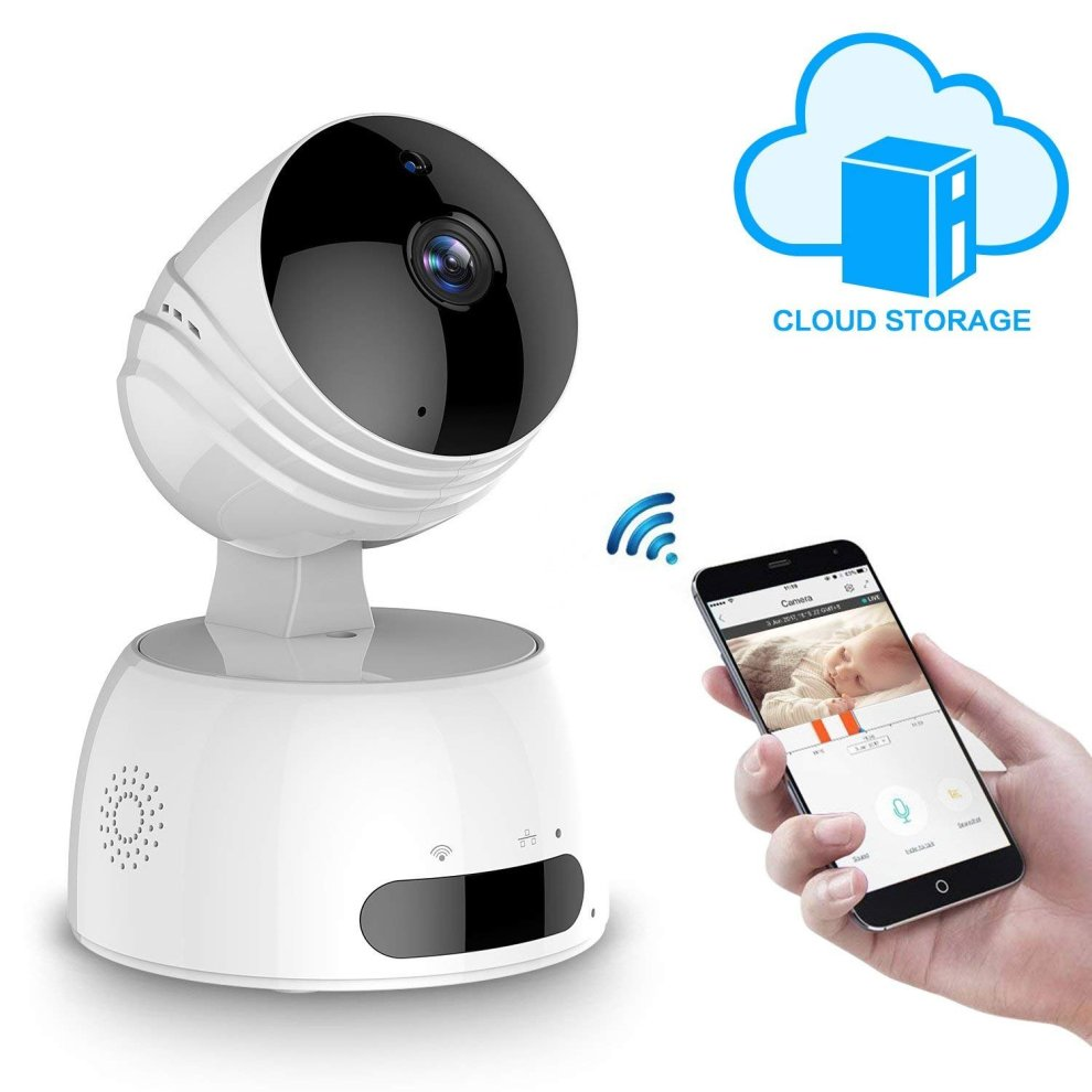 Wireless IP Camera, ROXTAK HD Security Camera with WiFi, 355°/ 100°Swivel,  Two Way Audio, Night Vision, Remote Alarm Support and Mobile App