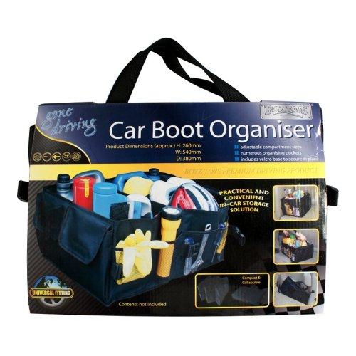 Car Boot Organiser - Boyztoyz Ry525 Adjustable Compartment Sizes Multi Pockets -  boyztoyz ry525 car boot organiser adjustable compartment sizes