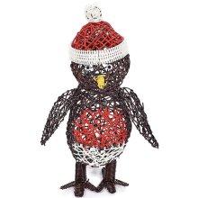 Rattan Robin Christmas Figure | Indoor & Outdoor LED Robin Figure