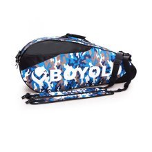 2 Shoulder Straps Waterproof And Dustproof Racket Bag 6 Racquet Bag,Blue