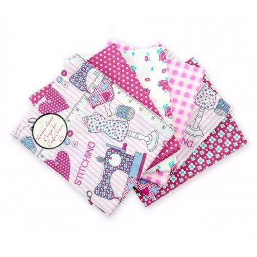 Fat Quarter Bundle - 100% Cotton - Just Sew - Pack of 6
