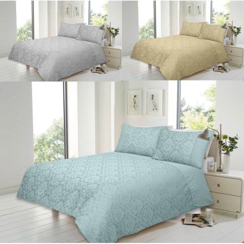 Savoy Cotton Rich Jacquard Duvet Quit Cover Bedding Set