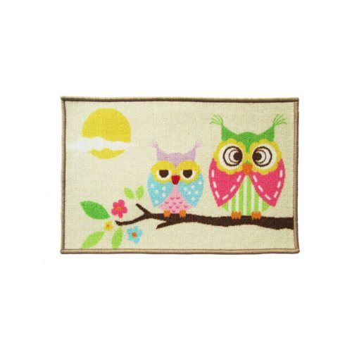 Good Morning Owls Lovely Cartoon Rug for Kids, Owl Rug