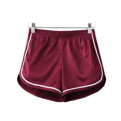 Women's Hot Gym Sport Shorts Shiny Metallic Pants, #A 2